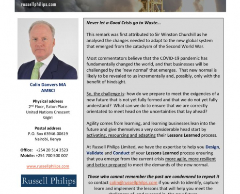 thumbnail of Russell Philips Ltd – Lessons Learned Flyer